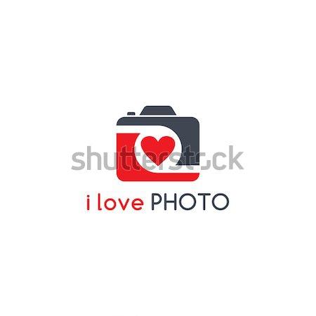 Fotografii kamery wektora sztuki ilustracja Zdjęcia stock © vector1st