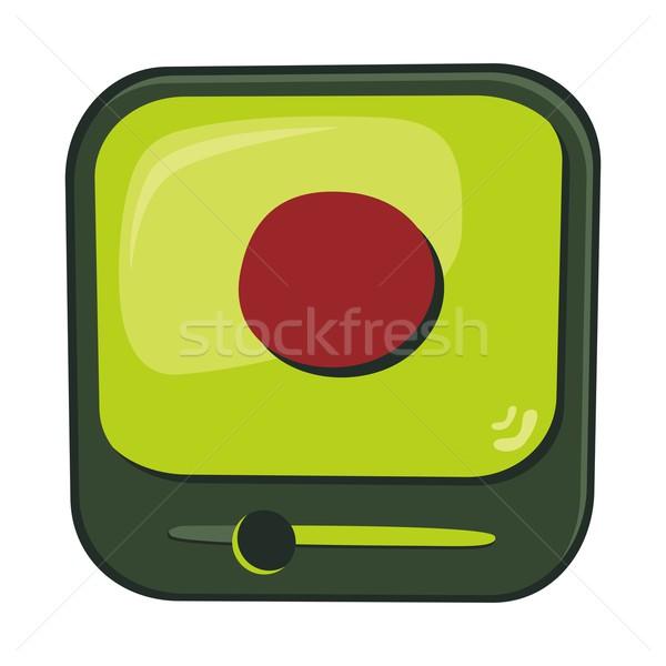 Ikon gomb szerkeszthető vektor grafikus művészet Stock fotó © vector1st