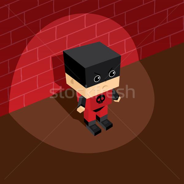 スーパーヒーロー 悪役 アイソメトリック ベクトル 芸術 実例 ストックフォト © vector1st