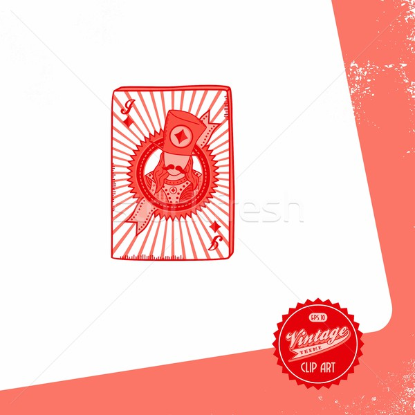 покер карт вектора графических искусства Сток-фото © vector1st