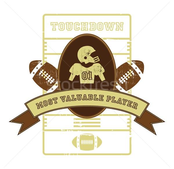 Football vecteur graphique art design Photo stock © vector1st
