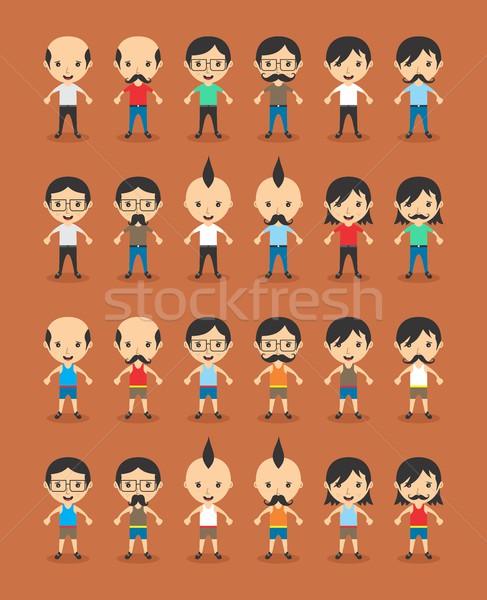 Avatar vector grafische kunst illustratie Stockfoto © vector1st