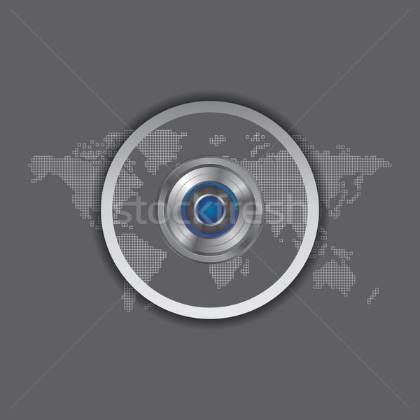 Kamera fotó videó interfész vektor grafikus Stock fotó © vector1st