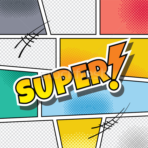 cartoon comic book template Stock photo © vector1st