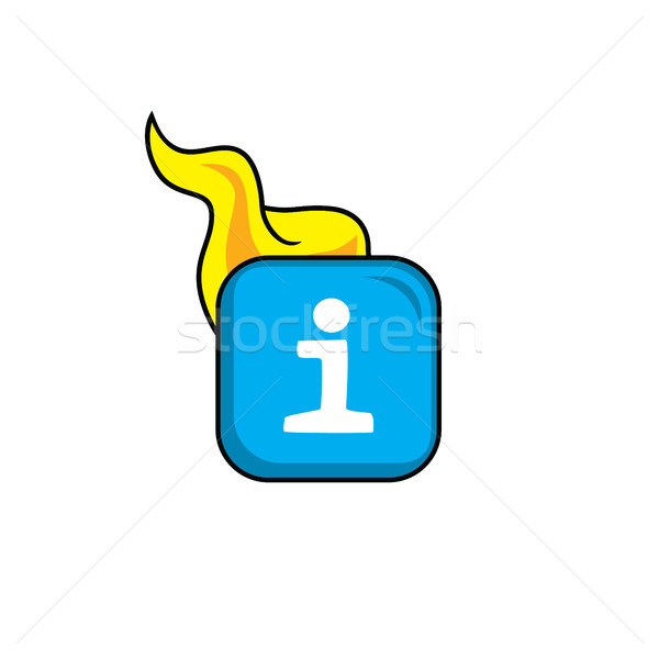 Caldo fiamma icona pulsante vettore arte Foto d'archivio © vector1st
