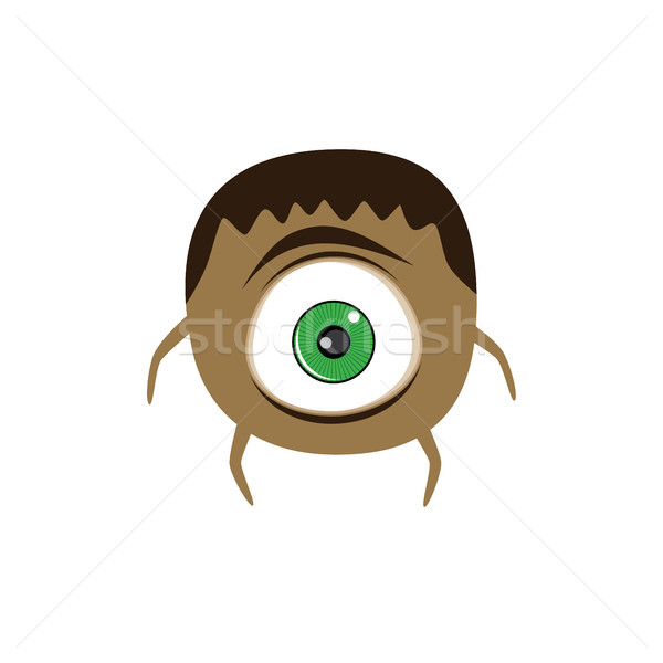 cute adorable scary monster cartoon fictional character Stock photo © vector1st