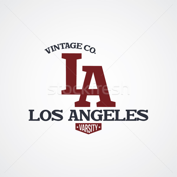 Stock photo: los angeles united states of america varsity