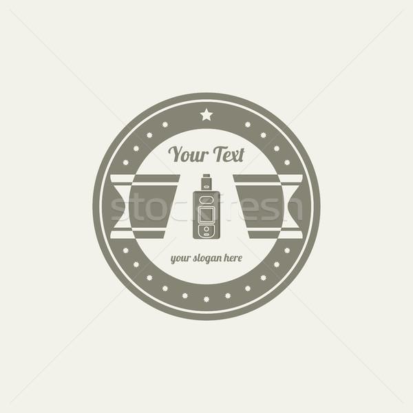 electric cigarette badge label template Stock photo © vector1st