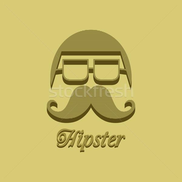whiskers mustache guy avatar Stock photo © vector1st
