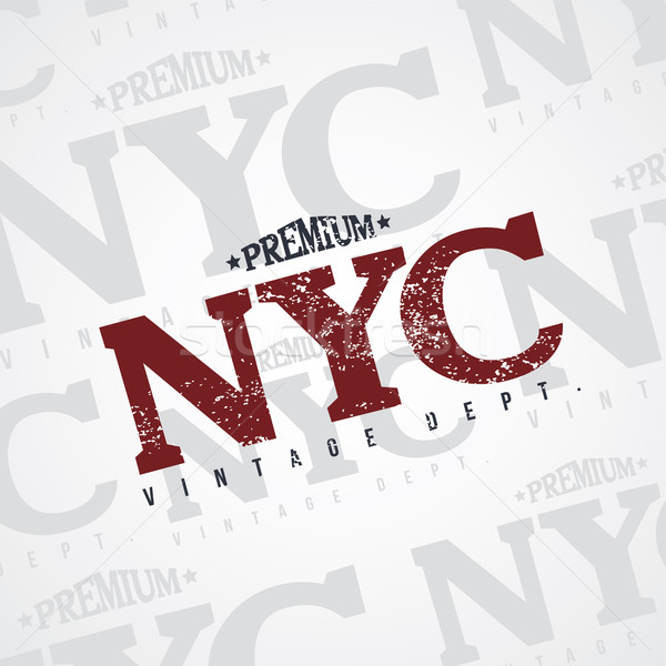 Stock photo: new york varsity theme