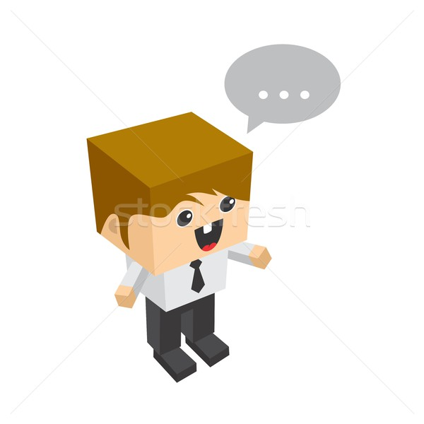 Stock photo: block isometric cartoon character