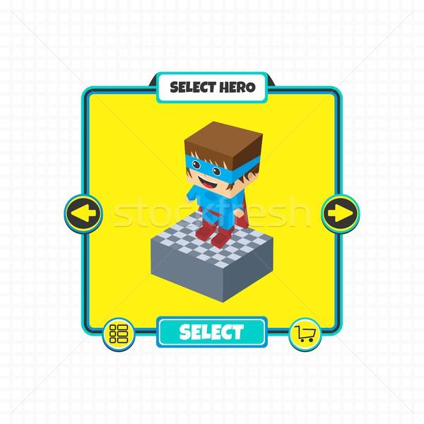 Kahraman karakter seçenek oyun Stok fotoğraf © vector1st