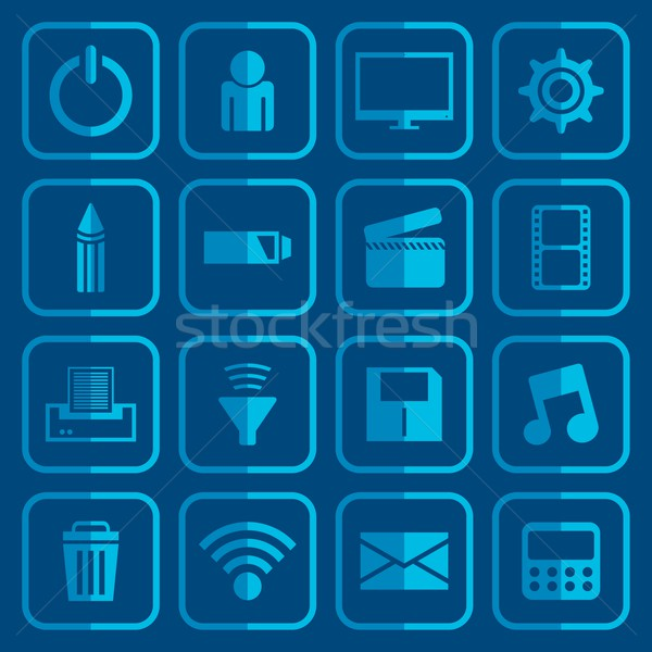 icon set Stock photo © vector1st