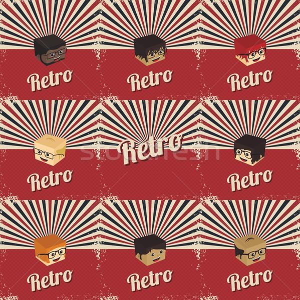 retro cartoon character Stock photo © vector1st