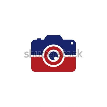 фото камеры логотип шаблон вектора Сток-фото © vector1st
