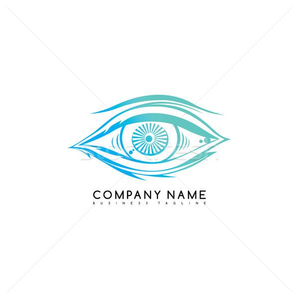 Oeil Rechercher voir logo modèle Photo stock © vector1st