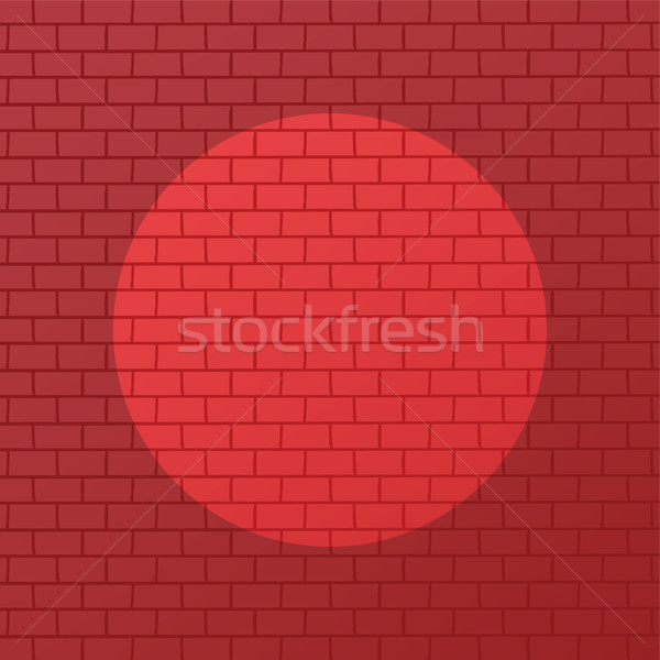 red brick with spotlight theme background vector art Stock photo © vector1st