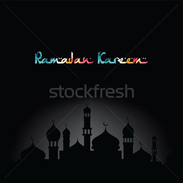 Ramadan saudação muçulmano celebração vetor Foto stock © vector1st