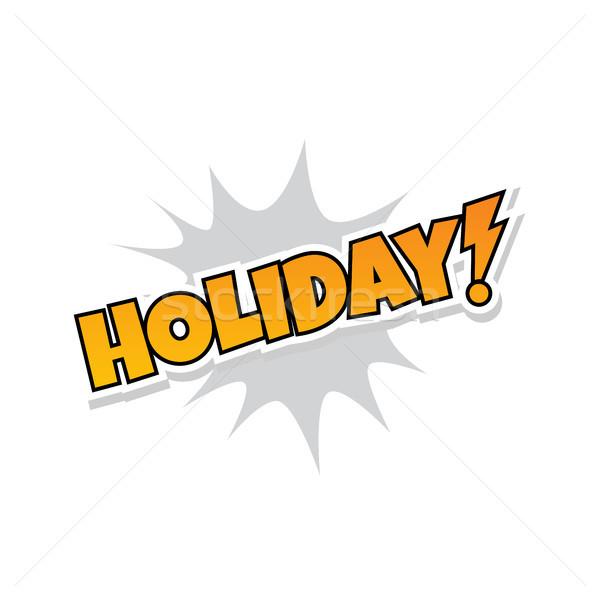 Feliz vacaciones saludo Splash texto vector Foto stock © vector1st