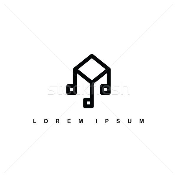 изометрический музыку сведению знак логотип Сток-фото © vector1st