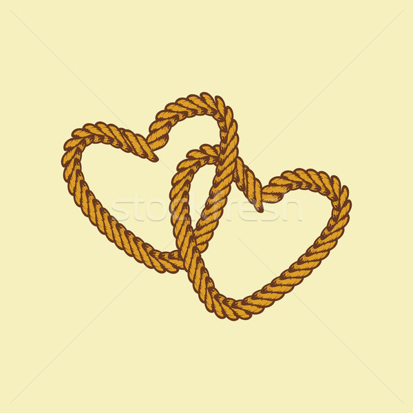 brown rope valentine day theme Stock photo © vector1st