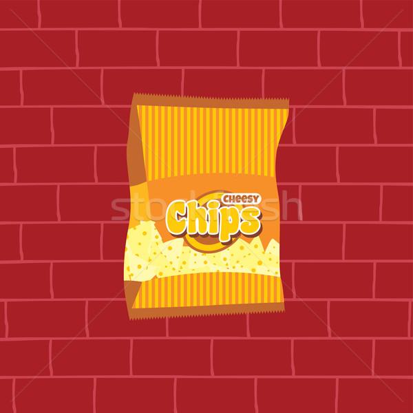 tasty potato chips snacks theme Stock photo © vector1st