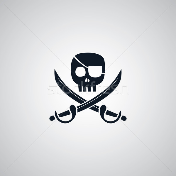 pirate flat icon theme Stock photo © vector1st