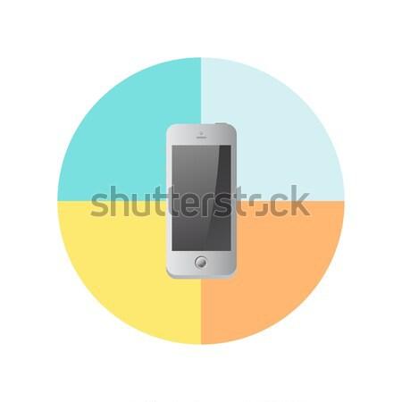Mobil számítógép berendezés vektor grafikus művészet Stock fotó © vector1st