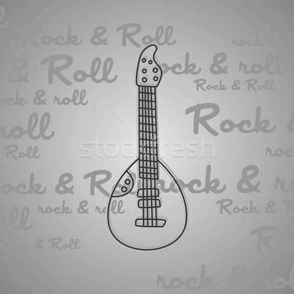 Rock toczyć gitara wektora sztuki ilustracja Zdjęcia stock © vector1st