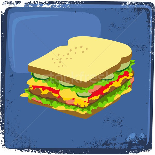 food and drink theme sandwich Stock photo © vector1st