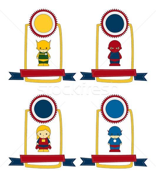 little hero cartoon Stock photo © vector1st