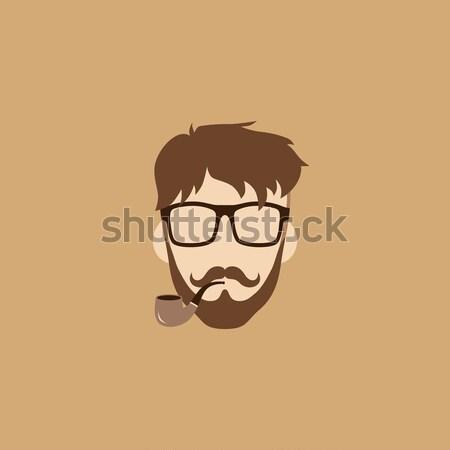 Hipszter fickó férfi avatar felhasználó kép Stock fotó © vector1st