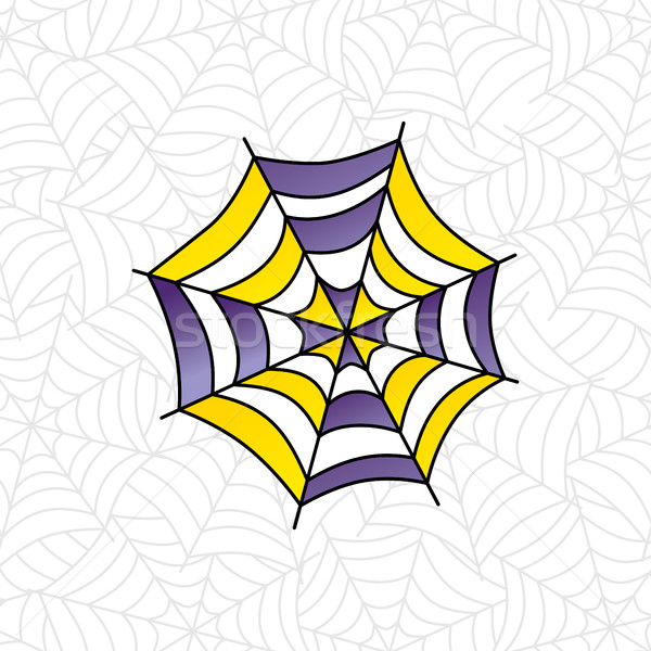 Stock foto: Farbenreich · Spinnennetz · Kunst · Vektor · Illustration · Design