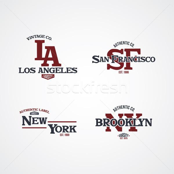 Stany Zjednoczone Ameryki odznakę etykiety godło pieczęć Zdjęcia stock © vector1st
