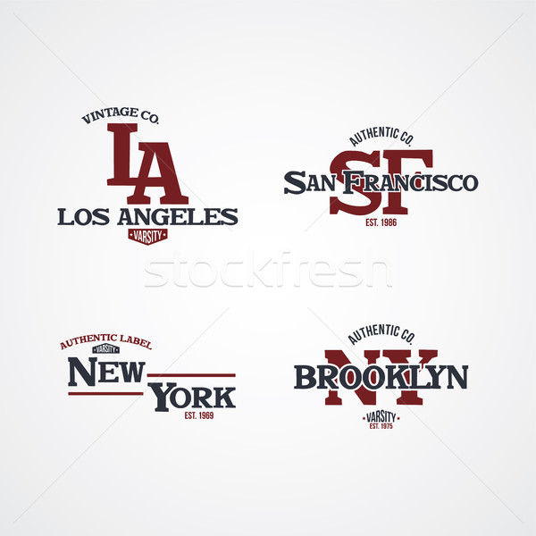 Amerika Birleşik Devletleri Amerika rozet etiket amblem damga Stok fotoğraf © vector1st