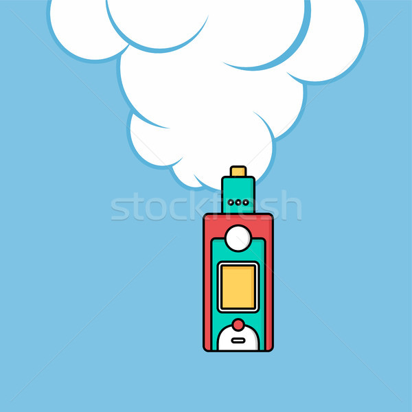 Elektrik sigara kişisel bulut vektör sanat Stok fotoğraf © vector1st