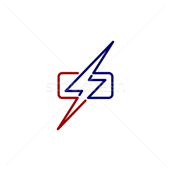 wrath thunder bolt theme sign Stock photo © vector1st