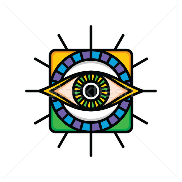 Jeden oka podpisania symbol logo Zdjęcia stock © vector1st