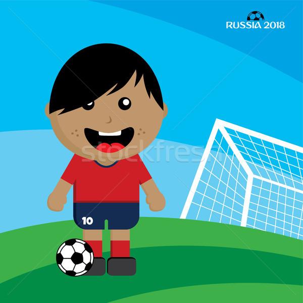 Grupo equipo torneo de fútbol Rusia vector arte Foto stock © vector1st