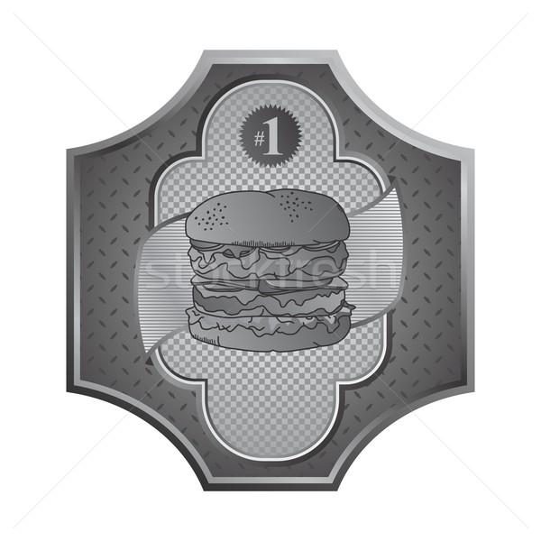 étel ital étterem vektor grafikus művészet Stock fotó © vector1st