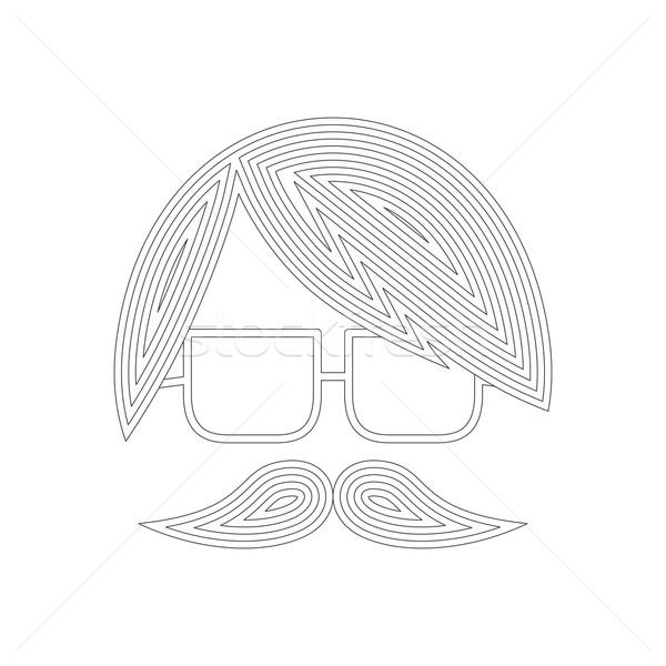 усы парень Аватара вектора графических Сток-фото © vector1st
