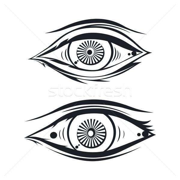 глаза один вектора искусства иллюстрация дизайна Сток-фото © vector1st