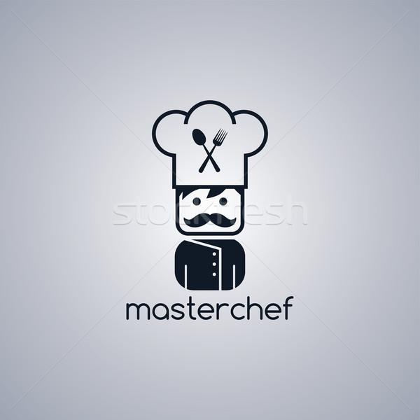 Mestre chef desenho animado vetor arte Foto stock © vector1st
