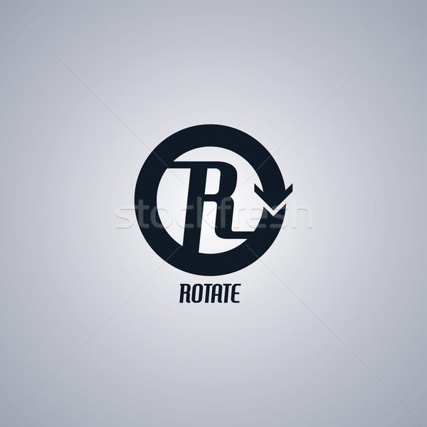 rotate arrow sign Stock photo © vector1st