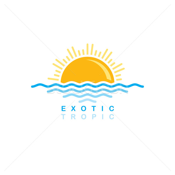 sea wave sunset symbolic Stock photo © vector1st