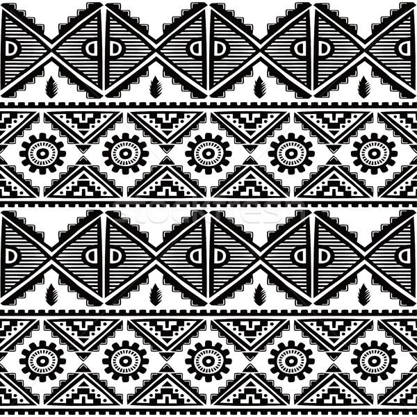 Nativo etnica vettore arte illustrazione Foto d'archivio © vector1st