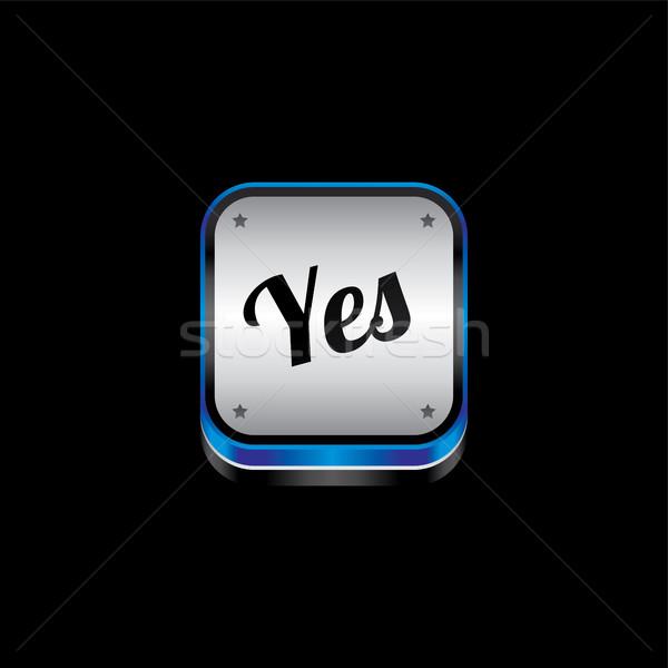 Sitio web metal placa icono botón vector Foto stock © vector1st