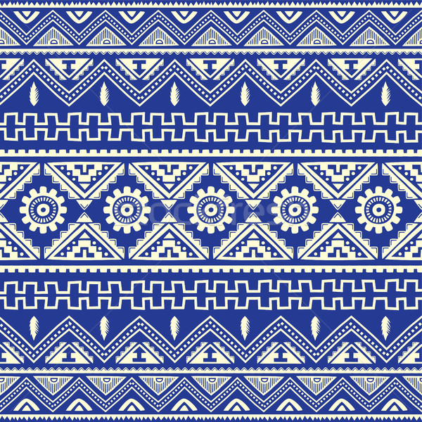 blue native american ethnic pattern Stock photo © vector1st