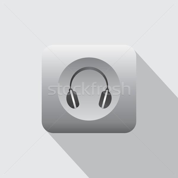 наушников музыку икона песня вектора искусства Сток-фото © vector1st
