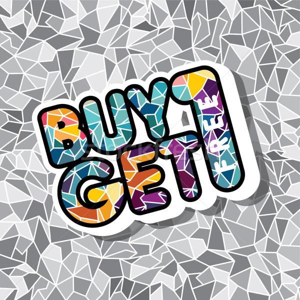 Comprar um livre venda promo mosaico Foto stock © vector1st